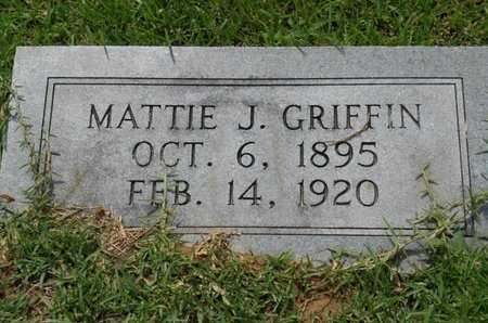 GRIFFIN, MATTIE J - Bowie County, Texas   MATTIE J GRIFFIN - Texas Gravestone Photos