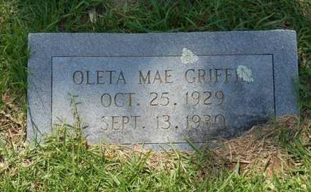 GRIFFIN, OLETA MAE - Bowie County, Texas   OLETA MAE GRIFFIN - Texas Gravestone Photos