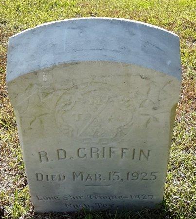 GRIFFIN, R D - Bowie County, Texas   R D GRIFFIN - Texas Gravestone Photos