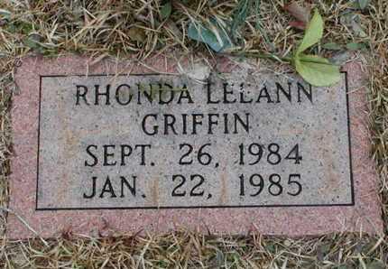 GRIFFIN, RHONDA LEEANN - Bowie County, Texas | RHONDA LEEANN GRIFFIN - Texas Gravestone Photos