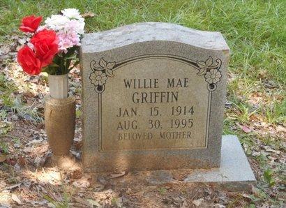 GRIFFIN, WILLIE MAE - Bowie County, Texas   WILLIE MAE GRIFFIN - Texas Gravestone Photos