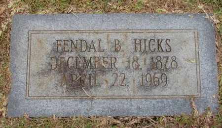 HICKS, FENDAL B - Bowie County, Texas   FENDAL B HICKS - Texas Gravestone Photos