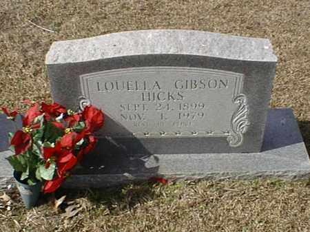 GIBSON HICKS, LOUELLA - Bowie County, Texas | LOUELLA GIBSON HICKS - Texas Gravestone Photos