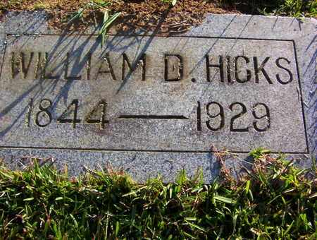 HICKS, WILLIAM D - Bowie County, Texas   WILLIAM D HICKS - Texas Gravestone Photos