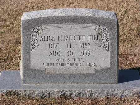 HILL, ALICE ELIZEBETH - Bowie County, Texas | ALICE ELIZEBETH HILL - Texas Gravestone Photos