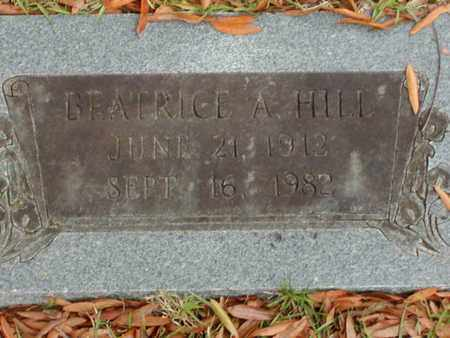 HILL, BEATRICE A - Bowie County, Texas | BEATRICE A HILL - Texas Gravestone Photos