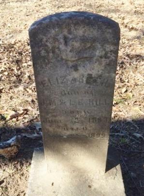 HILL, ELIZABETH - Bowie County, Texas   ELIZABETH HILL - Texas Gravestone Photos