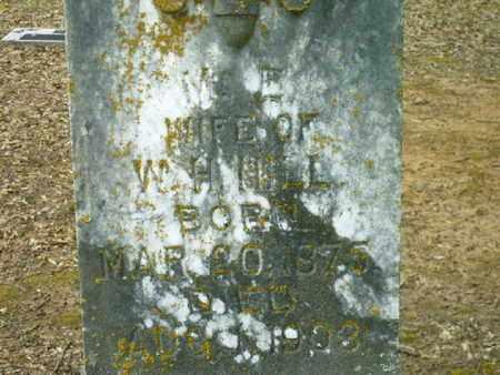 HILL, M E  (CLOSEUP) - Bowie County, Texas | M E  (CLOSEUP) HILL - Texas Gravestone Photos