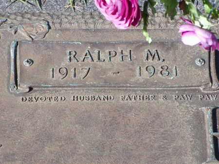 HILL, RALPH M  (CLOSEUP) - Bowie County, Texas | RALPH M  (CLOSEUP) HILL - Texas Gravestone Photos