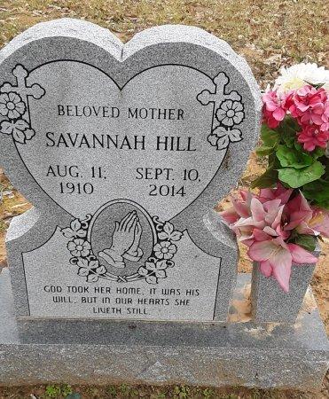 HILL, SAVANNAH (CENTENARIAN) - Bowie County, Texas | SAVANNAH (CENTENARIAN) HILL - Texas Gravestone Photos