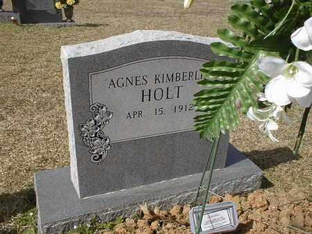HOLT, AGNES KIMBERLIN - Bowie County, Texas | AGNES KIMBERLIN HOLT - Texas Gravestone Photos