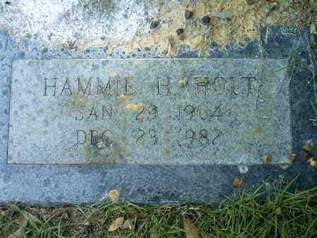 HOLT, HAMMIE H - Bowie County, Texas | HAMMIE H HOLT - Texas Gravestone Photos