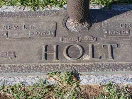 HOLT, L E - Bowie County, Texas | L E HOLT - Texas Gravestone Photos