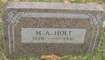 HOLT, M.A. - Bowie County, Texas | M.A. HOLT - Texas Gravestone Photos