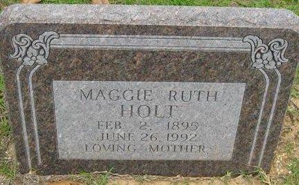 HOLT, MAGGIE RUTH - Bowie County, Texas | MAGGIE RUTH HOLT - Texas Gravestone Photos