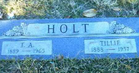 HOLT, T A - Bowie County, Texas   T A HOLT - Texas Gravestone Photos