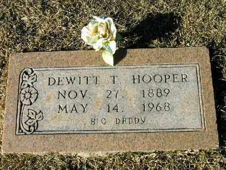 HOOPER, DEWITT T - Bowie County, Texas | DEWITT T HOOPER - Texas Gravestone Photos