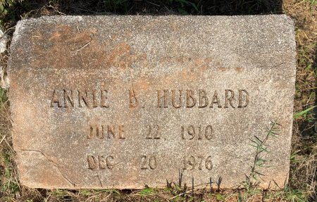 RICHARDS HUBBARD, ANNIE B - Bowie County, Texas | ANNIE B RICHARDS HUBBARD - Texas Gravestone Photos