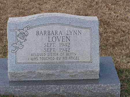 LOVEN, BARBARA LYNN - Bowie County, Texas | BARBARA LYNN LOVEN - Texas Gravestone Photos