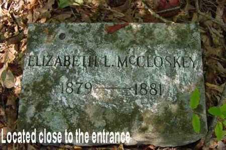 MCCLOSKEY, ELIZABETH - Bowie County, Texas | ELIZABETH MCCLOSKEY - Texas Gravestone Photos
