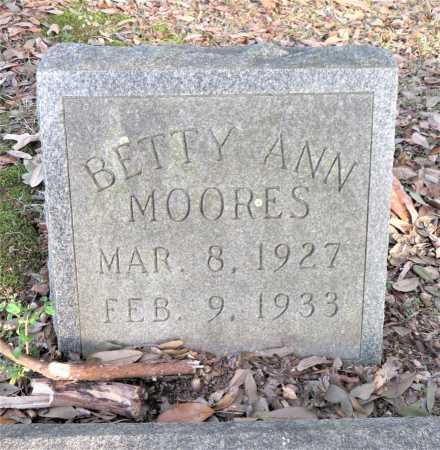 MOORES, BETTY ANN - Bowie County, Texas | BETTY ANN MOORES - Texas Gravestone Photos