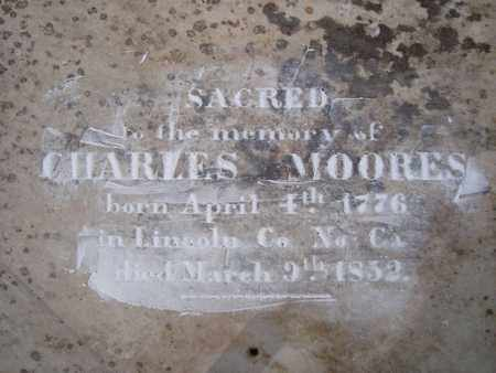 MOORES, CHARLES (CLOSEUP) - Bowie County, Texas | CHARLES (CLOSEUP) MOORES - Texas Gravestone Photos