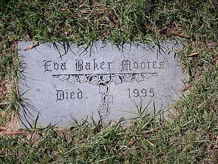 MOORES, EVA - Bowie County, Texas   EVA MOORES - Texas Gravestone Photos