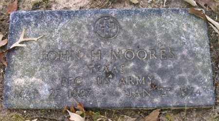 MOORES (VETERAN), JOHN H - Bowie County, Texas | JOHN H MOORES (VETERAN) - Texas Gravestone Photos