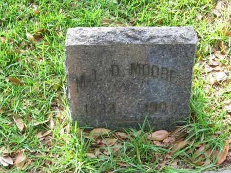 MOORES, M L D - Bowie County, Texas   M L D MOORES - Texas Gravestone Photos