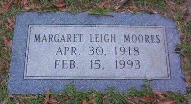 MOORES, MARGARET LEIGH - Bowie County, Texas | MARGARET LEIGH MOORES - Texas Gravestone Photos