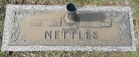 NETTLES, JOHNIE U  - Bowie County, Texas | JOHNIE U  NETTLES - Texas Gravestone Photos