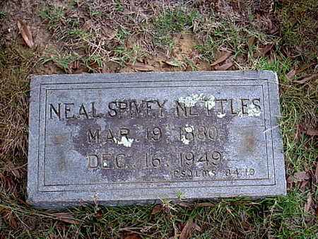 NETTLES, NEAL SPIVEY - Bowie County, Texas | NEAL SPIVEY NETTLES - Texas Gravestone Photos