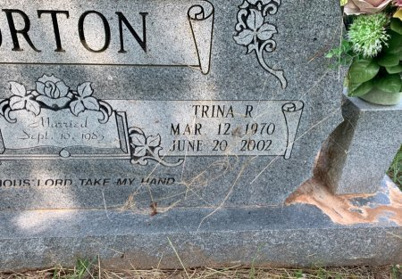 HAYES NORTON, TRINA R ( CLOSE UP) - Bowie County, Texas | TRINA R ( CLOSE UP) HAYES NORTON - Texas Gravestone Photos