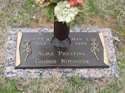 ROBINSON, ALMA PRESTINA - Bowie County, Texas | ALMA PRESTINA ROBINSON - Texas Gravestone Photos