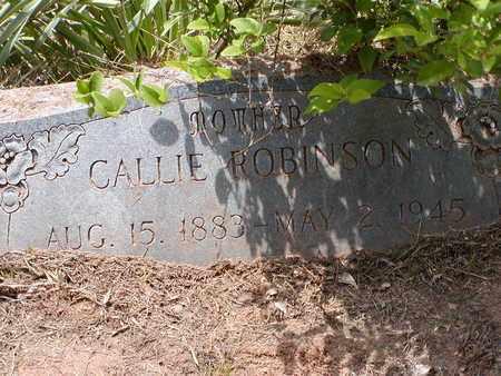 ROBINSON, CALLIE - Bowie County, Texas | CALLIE ROBINSON - Texas Gravestone Photos