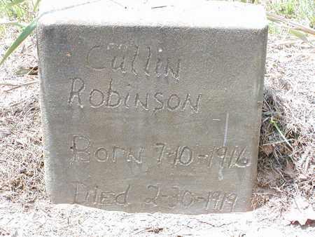 ROBINSON, CULLIN - Bowie County, Texas | CULLIN ROBINSON - Texas Gravestone Photos
