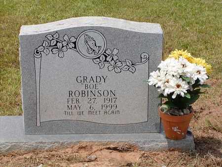"ROBINSON, GRADY ""BOE"" - Bowie County, Texas | GRADY ""BOE"" ROBINSON - Texas Gravestone Photos"