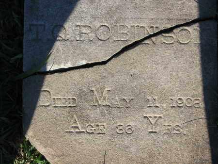 ROBINSON, T Q (CLOSEUP) - Bowie County, Texas   T Q (CLOSEUP) ROBINSON - Texas Gravestone Photos