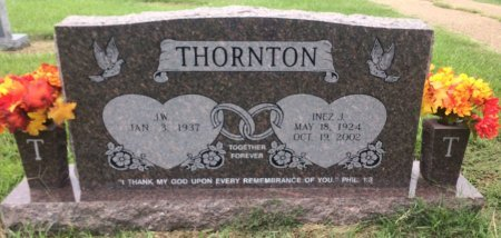THORNTON, INEZ  - Bowie County, Texas | INEZ  THORNTON - Texas Gravestone Photos