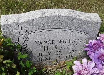 THURSTON, VANCE WILLIAM - Bowie County, Texas | VANCE WILLIAM THURSTON - Texas Gravestone Photos