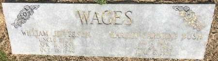 WAGES, WILLIAM JEFFERSON - Bowie County, Texas | WILLIAM JEFFERSON WAGES - Texas Gravestone Photos