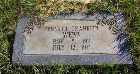 WEBB, KENNETH FRANKLIN - Bowie County, Texas | KENNETH FRANKLIN WEBB - Texas Gravestone Photos