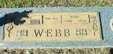 WEBB, RUBY - Bowie County, Texas | RUBY WEBB - Texas Gravestone Photos