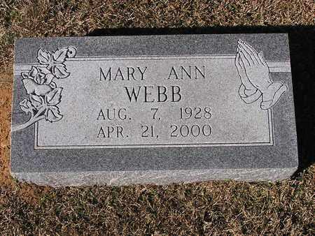 WEBB, MARY ANN - Bowie County, Texas   MARY ANN WEBB - Texas Gravestone Photos