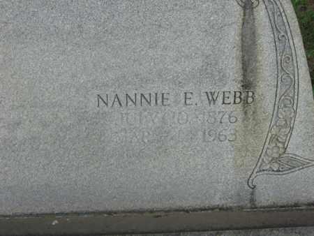 WEBB, NANNIE E  (CLOSE) - Bowie County, Texas | NANNIE E  (CLOSE) WEBB - Texas Gravestone Photos