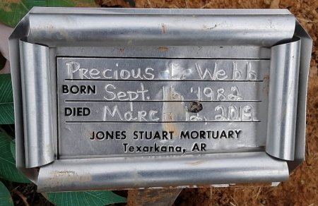 WEBB, PRECIOUS L (FHM) - Bowie County, Texas | PRECIOUS L (FHM) WEBB - Texas Gravestone Photos