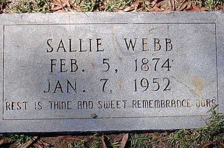 WEBB, SALLIE - Bowie County, Texas | SALLIE WEBB - Texas Gravestone Photos