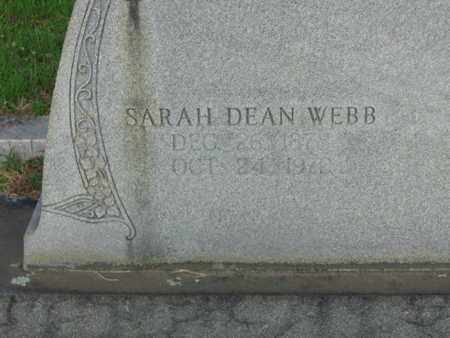 WEBB, SARAH DEAN  (CLOSE) - Bowie County, Texas | SARAH DEAN  (CLOSE) WEBB - Texas Gravestone Photos