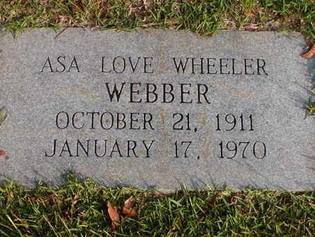 WHEELER WEBBER, ASA LOVE - Bowie County, Texas | ASA LOVE WHEELER WEBBER - Texas Gravestone Photos