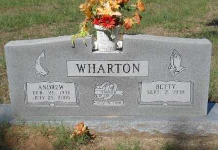 WHARTON, ANDREW - Bowie County, Texas | ANDREW WHARTON - Texas Gravestone Photos